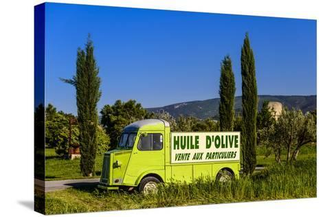 France, Provence, Vaucluse, Coustellet, Olive Mill, Pickup Van Citroen Type H, Advertising Vehicle-Udo Siebig-Stretched Canvas Print