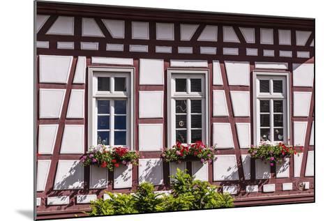 Germany, Hessen, Taunus, German Timber-Frame Road, Idstein, Kšnig-Adolf-Platz, Timber-Framed Facade-Udo Siebig-Mounted Photographic Print