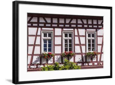 Germany, Hessen, Taunus, German Timber-Frame Road, Idstein, Kšnig-Adolf-Platz, Timber-Framed Facade-Udo Siebig-Framed Art Print