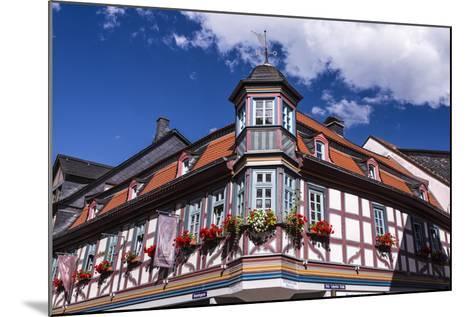 Germany, Hessen, Taunus, German Timber-Frame Road, Idstein, K?nig-Adolf-Platz, Timber-Framed Facade-Udo Siebig-Mounted Photographic Print