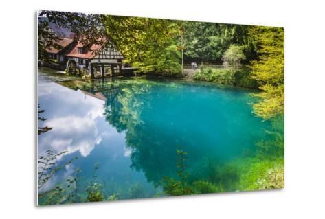 Germany, Baden-Wurttemberg, Swabian Alp, Blautal (Blau Valley), Blaubeuren-Udo Siebig-Metal Print
