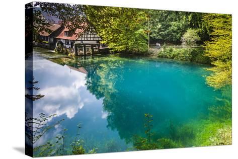 Germany, Baden-Wurttemberg, Swabian Alp, Blautal (Blau Valley), Blaubeuren-Udo Siebig-Stretched Canvas Print