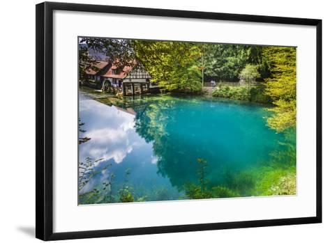 Germany, Baden-Wurttemberg, Swabian Alp, Blautal (Blau Valley), Blaubeuren-Udo Siebig-Framed Art Print