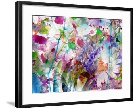 A Floral Montage Photographic Layer Work-Alaya Gadeh-Framed Art Print