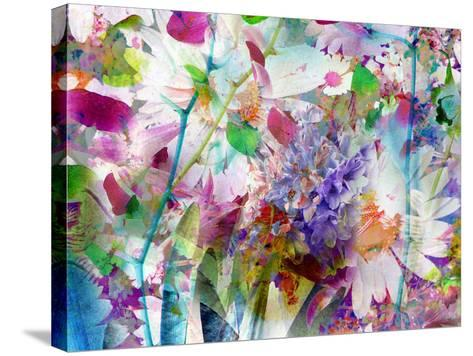 A Floral Montage Photographic Layer Work-Alaya Gadeh-Stretched Canvas Print