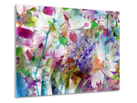 A Floral Montage Photographic Layer Work-Alaya Gadeh-Metal Print