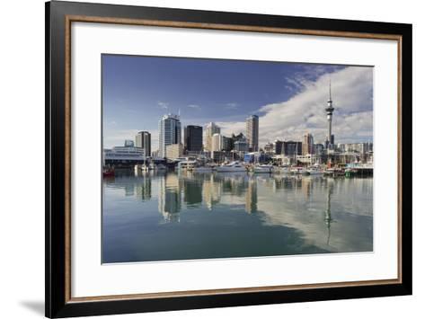 Skyline of Auckland, Yacht Harbour, Wynyard Crossing, Viaduct Basin, Harbour-Rainer Mirau-Framed Art Print