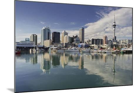 Skyline of Auckland, Yacht Harbour, Wynyard Crossing, Viaduct Basin, Harbour-Rainer Mirau-Mounted Photographic Print