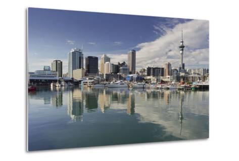 Skyline of Auckland, Yacht Harbour, Wynyard Crossing, Viaduct Basin, Harbour-Rainer Mirau-Metal Print