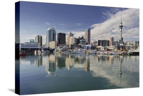 Skyline of Auckland, Yacht Harbour, Wynyard Crossing, Viaduct Basin, Harbour-Rainer Mirau-Stretched Canvas Print