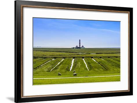 Germany, Schleswig-Holstein, North Frisia, Peninsula Eider (River)Stedt, Westerhever-Udo Siebig-Framed Art Print