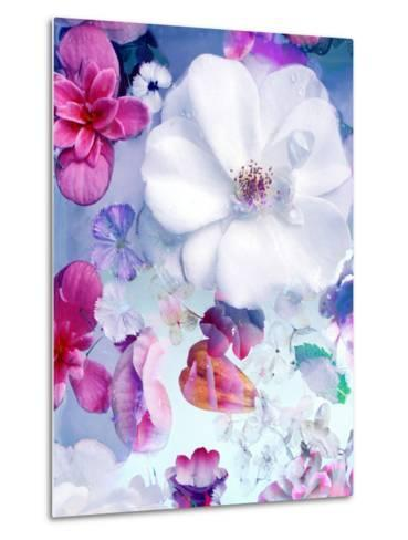 Pink and White Blossoms in Blue Water-Alaya Gadeh-Metal Print