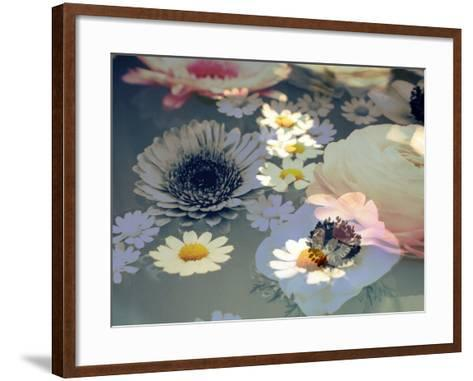 Colorful Photographic Layer Work of Blossoms-Alaya Gadeh-Framed Art Print