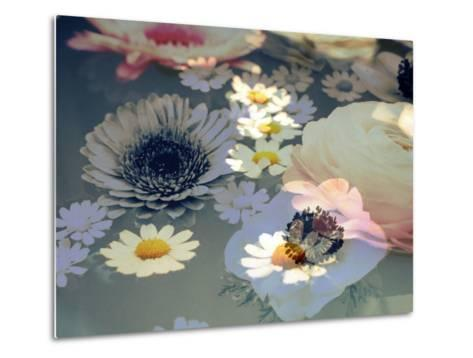 Colorful Photographic Layer Work of Blossoms-Alaya Gadeh-Metal Print