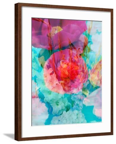 Photomontage of Flowers in Water-Alaya Gadeh-Framed Art Print