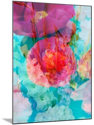 Photomontage of Flowers in Water-Alaya Gadeh-Mounted Photographic Print