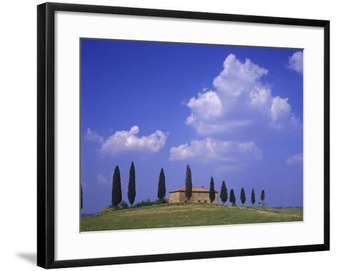 Italy, Tuscany, Siena, Pienza, Grange Province-Udo Siebig-Framed Art Print