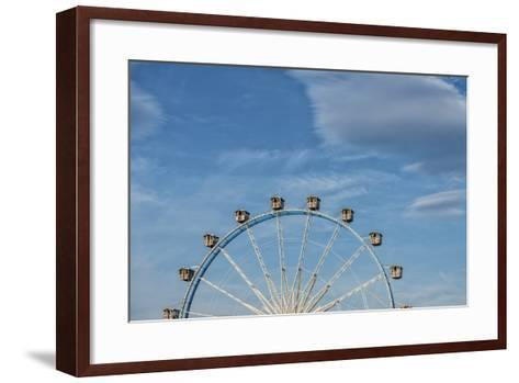 Frankfurt on the Main, Hesse, Germany, Ferris Wheel at the Frankfurt Spring Fair Dippemess-Bernd Wittelsbach-Framed Art Print