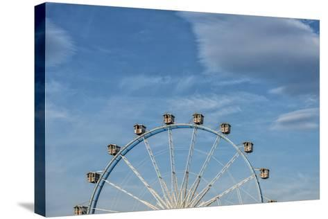 Frankfurt on the Main, Hesse, Germany, Ferris Wheel at the Frankfurt Spring Fair Dippemess-Bernd Wittelsbach-Stretched Canvas Print