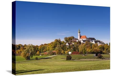 Germany, Bavaria, Upper Bavaria, 'F?nf Seen Land' (Region), Andechs, Autumn Landscape with Andechs-Udo Siebig-Stretched Canvas Print