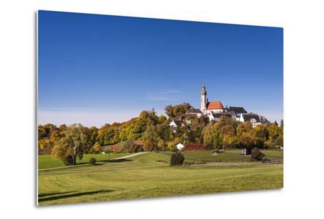Germany, Bavaria, Upper Bavaria, 'F?nf Seen Land' (Region), Andechs, Autumn Landscape with Andechs-Udo Siebig-Metal Print