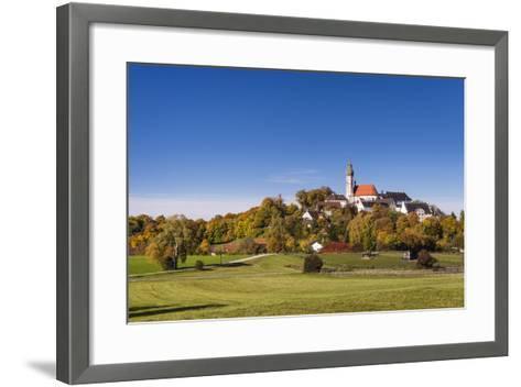Germany, Bavaria, Upper Bavaria, 'F?nf Seen Land' (Region), Andechs, Autumn Landscape with Andechs-Udo Siebig-Framed Art Print