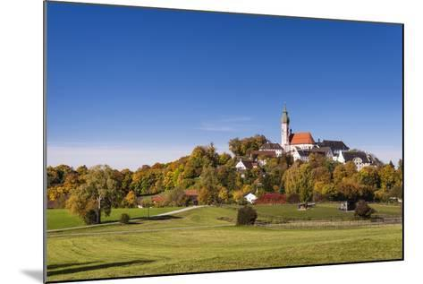 Germany, Bavaria, Upper Bavaria, 'F?nf Seen Land' (Region), Andechs, Autumn Landscape with Andechs-Udo Siebig-Mounted Photographic Print