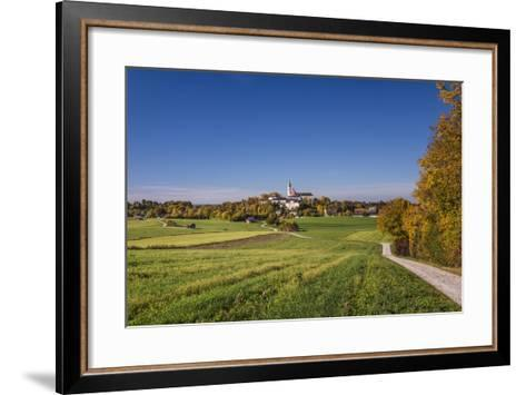 Germany, Bavaria, Upper Bavaria, 'FŸnf Seen Land' (Region), Andechs, Autumn Landscape with Andechs-Udo Siebig-Framed Art Print