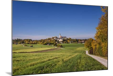 Germany, Bavaria, Upper Bavaria, 'FŸnf Seen Land' (Region), Andechs, Autumn Landscape with Andechs-Udo Siebig-Mounted Photographic Print