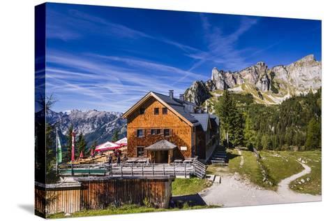 Austria, Tyrol, Achensee Region, Rofangebirge (Mountains), Maurach (Village) at the Achensee-Udo Siebig-Stretched Canvas Print