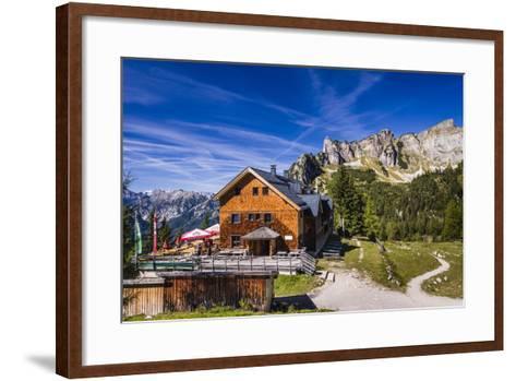Austria, Tyrol, Achensee Region, Rofangebirge (Mountains), Maurach (Village) at the Achensee-Udo Siebig-Framed Art Print
