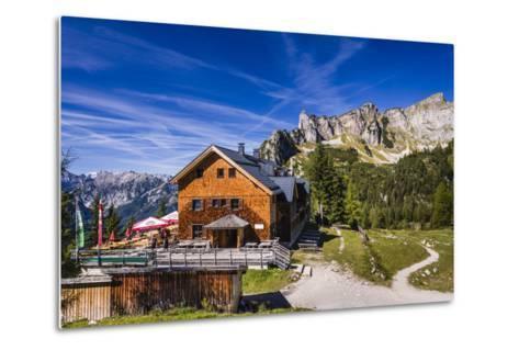 Austria, Tyrol, Achensee Region, Rofangebirge (Mountains), Maurach (Village) at the Achensee-Udo Siebig-Metal Print