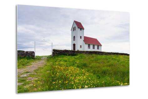 Church at the Pingvallavatn-Catharina Lux-Metal Print