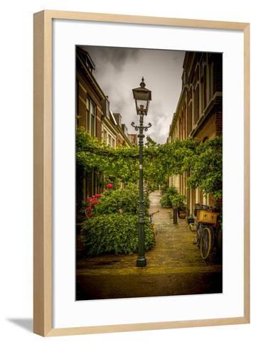 The Netherlands, Haarlem, Street, Lane-Ingo Boelter-Framed Art Print
