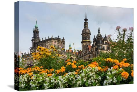 Dresden, Summer, Dresden Cathedral, Castle-Catharina Lux-Stretched Canvas Print