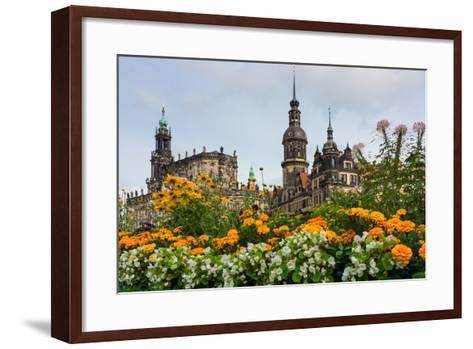 Dresden, Summer, Dresden Cathedral, Castle-Catharina Lux-Framed Art Print