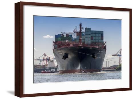 Germany, Hamburg, Elbe (River), 'Fischmarkt', Harbour-Ingo Boelter-Framed Art Print
