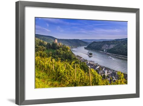Germany, Rhineland-Palatinate, Upper Middle Rhine Valley, Kaub, Rhine Valley-Udo Siebig-Framed Art Print