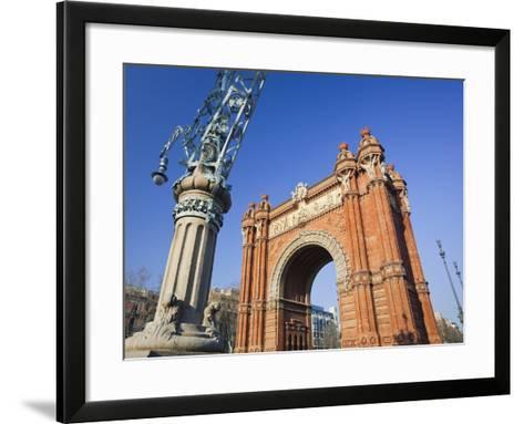 Spain, Catalonia, Barcelona, Triumphal Curve, Lantern-Rainer Mirau-Framed Art Print