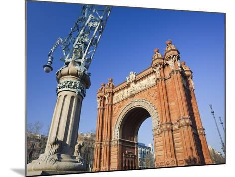 Spain, Catalonia, Barcelona, Triumphal Curve, Lantern-Rainer Mirau-Mounted Photographic Print