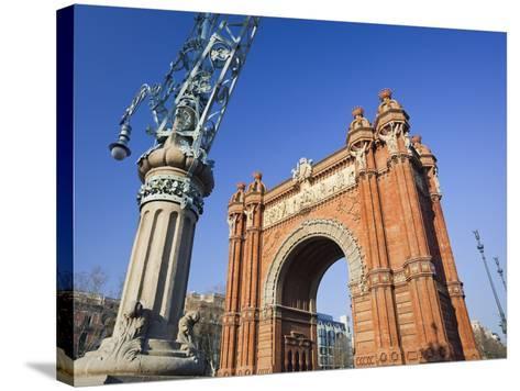 Spain, Catalonia, Barcelona, Triumphal Curve, Lantern-Rainer Mirau-Stretched Canvas Print