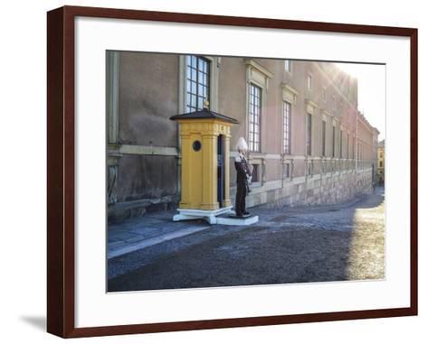 Stockholm Palace, Guard, West Front-Frina-Framed Art Print