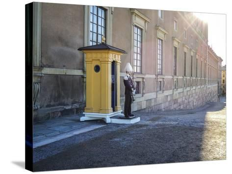 Stockholm Palace, Guard, West Front-Frina-Stretched Canvas Print
