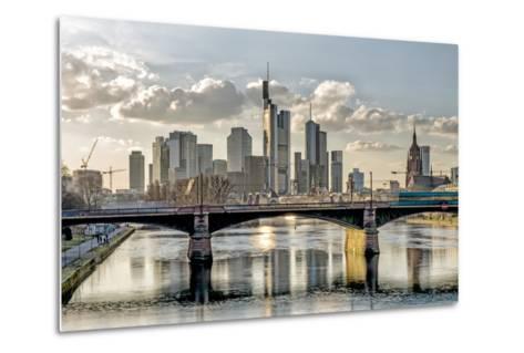 Germany, Hesse, Frankfurt on the Main, Skyline, Selective Focus-Bernd Wittelsbach-Metal Print