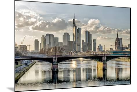 Germany, Hesse, Frankfurt on the Main, Skyline, Selective Focus-Bernd Wittelsbach-Mounted Photographic Print