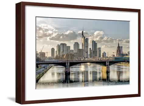 Germany, Hesse, Frankfurt on the Main, Skyline, Selective Focus-Bernd Wittelsbach-Framed Art Print