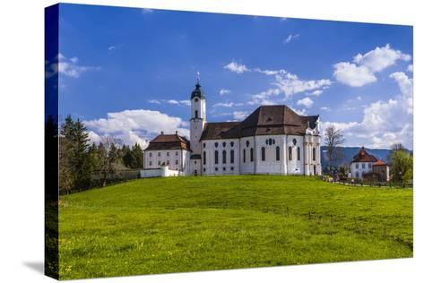 Germany, Bavaria, Upper Bavaria, Pfaffenwinkel, Steingaden-Udo Siebig-Stretched Canvas Print