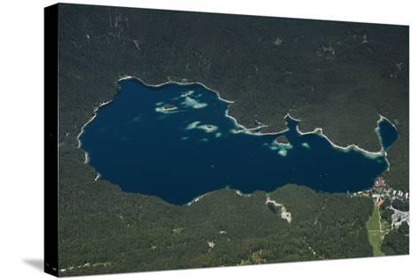 Eibsee, Lake Eibsee Hotel, Grainau, Resort, Tourism Region-Frank Fleischmann-Stretched Canvas Print