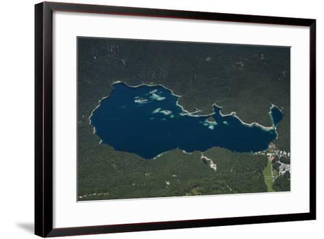 Eibsee, Lake Eibsee Hotel, Grainau, Resort, Tourism Region-Frank Fleischmann-Framed Art Print