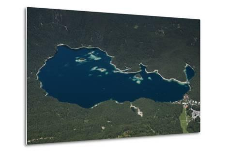 Eibsee, Lake Eibsee Hotel, Grainau, Resort, Tourism Region-Frank Fleischmann-Metal Print